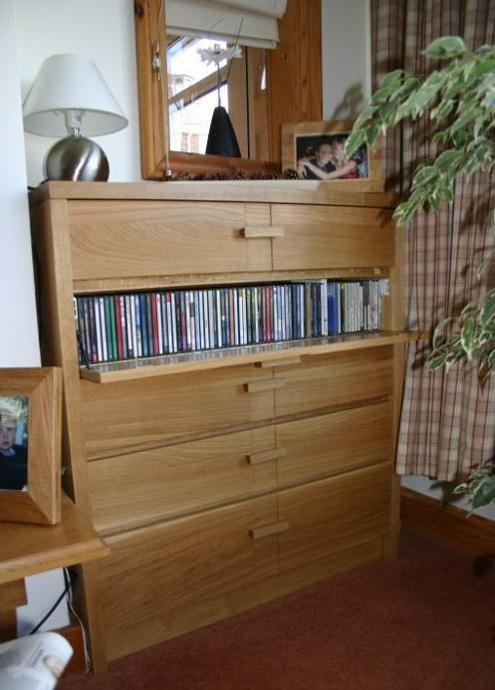 Cd Storage. This Unit Was Made From European Oak To House My HiFi Units.